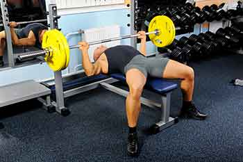 Bench Pressing Barbell