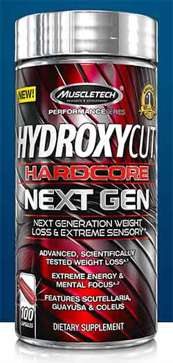 Hydroxycut Hardcore Next Gen Bottle