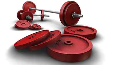 Red Gym Weights